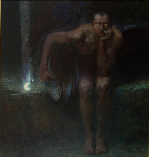 Franz  von Stuck,  Lucifero, 1889-1890, Sofia, The National Gallery for Foreign Art