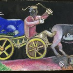 Marc Chagall, Studio per The Cattle Dealer, 1912 - Israel Museum, Gerusalemme