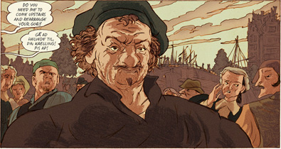 Rembrandt in versione graphic novel