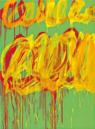Untitled (Camino Real VI), 2011 Acrilico su legno/ Acrylic on wood 252.5 x 187.2 cm Cy Twombly Foundation