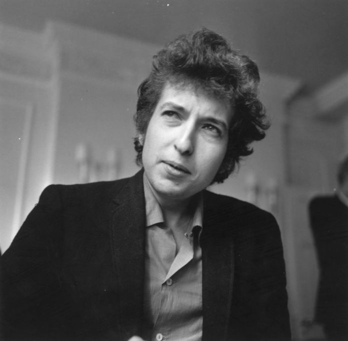 Bob Dylan nell'aprile del 1965 - photo Evening Standard/Getty Images