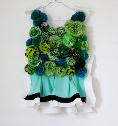 Daniel González, D.G. Clothes Project, Cut-Up Sculpture Dress Collection #6, 2015