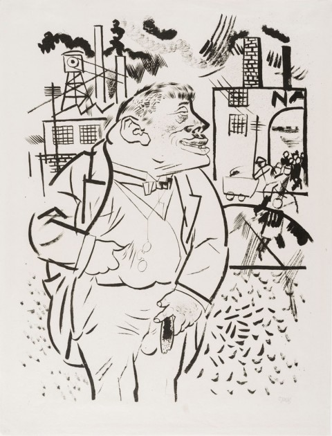 George Grosz, Il capo, 1922 - Los Angeles County Museum of Art