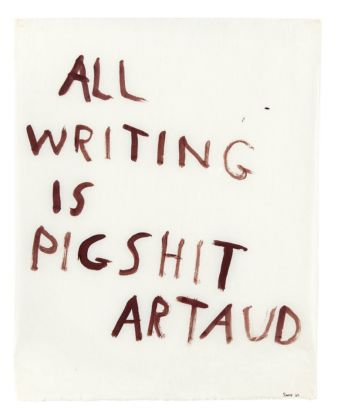 Nancy Spero, All writing is pigshit, 1970 - photo Fabrice Gibert - © The Nancy Spero and Leon Golub Foundation for the Arts