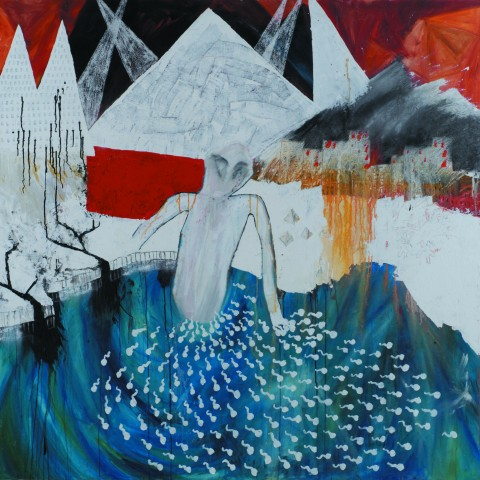 Stanley Donwood, Get out before Saturday,168 x 168 cm, acrylic on canvas, 2000