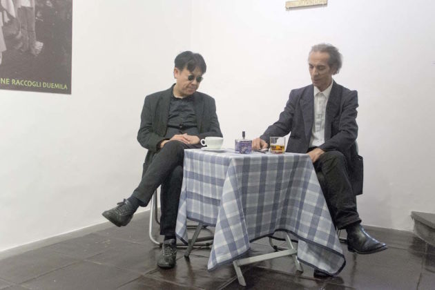 Felice Levini & H.H. Lim, no coffee no cigarettes, 2015 – performance - courtesy Galleria Paola Verrengia, Salerno - photo Ciro Fundarò