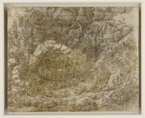 Leonardo da Vinci, Diluvio (1517-1518 circa) - The Royal Collection, HM Queen Elizabeth II