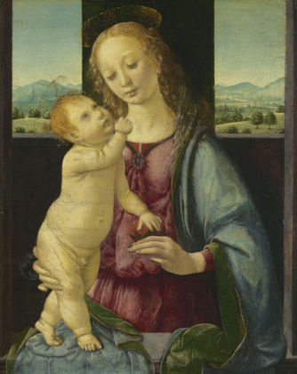 Leonardo da Vinci, Madonna col Bambino (Madonna della melagrana o Madonna Dreyfus) (1469-1470 circa) - Washington, D.C., National Gallery of Art, Samuel H. Kress Collection