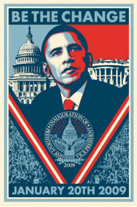 Obey, Barak Obama - Be The Change