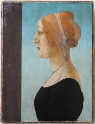 Sandro Botticelli, Ritratto di donna, 1485 - Private Collection, Bruxelles