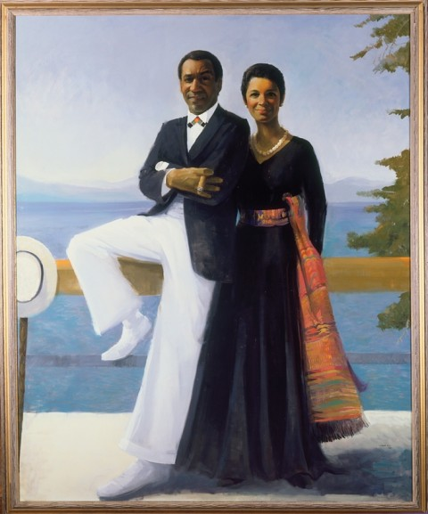 Simmie Knox, Portrait of Bill and Camille Cosby, 1984