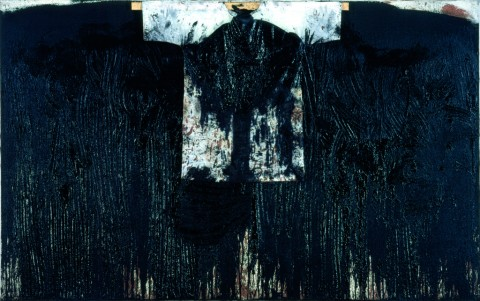 Hermann Nitsch,  40. painting action (Museum of the 20th Century Vienna), 1997 - olio e sangue su tela - courtesy Atelier Hermann Nitsch