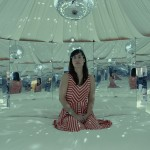 The interior of Urs Fischer's yurt artwork in Station to Station