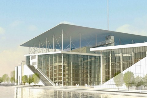 Un rendering dello Stavros Niarchos Foundation Cultural Center
