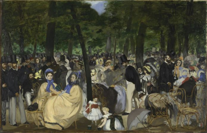 Edouard Manet, Musica alle Tuileries, 1862 - © The National Gallery, Londra