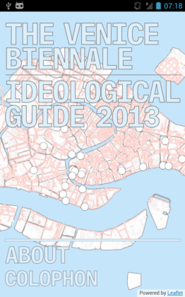 Jonas Staal, Venice Ideological Guide, 2013