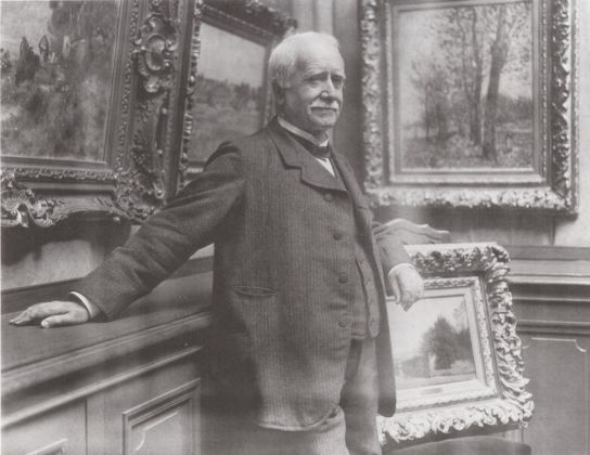 Paul Durand-Ruel nella sua galleria, 1910 ca. - photo Dornac