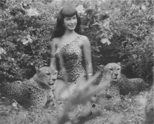 © Bunny Yeager, 1954 Bettie Page, Courtesy of Michael Fornitz Collection