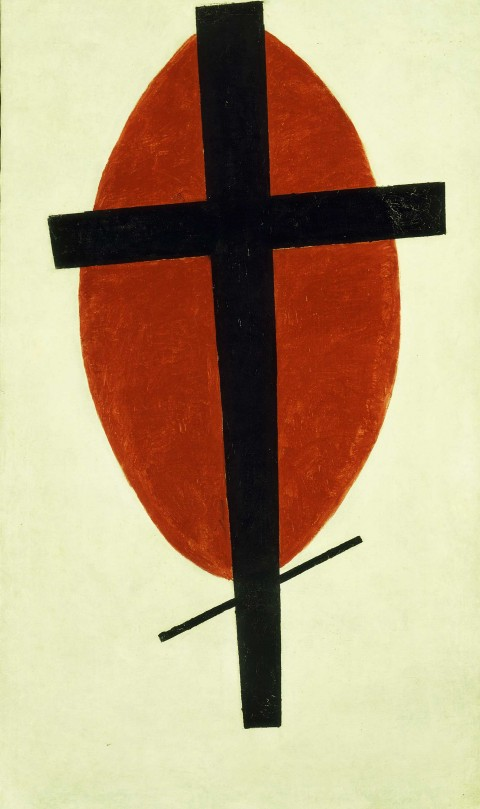 Kazimir Malevich, Mystic Suprematism (Black Cross on Red Oval), 1920-1922