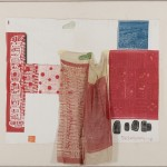 Robert Rauschenberg, Switchboard II, 1974, Rilievo e intaglio su tessuto e collage su lino applicati su tela, 96x113cm