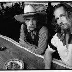 """© 2015 Jeff Bridges, All Rights Reserved, Sam Elliot and Jeff Bridges. """"The Stranger"""" and """"the Dude"""", The Big Lebowski, 1998"""