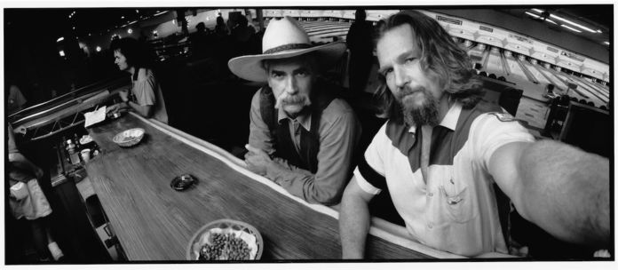 "© 2015 Jeff Bridges, All Rights Reserved, Sam Elliot and Jeff Bridges. ""The Stranger"" and ""the Dude"", The Big Lebowski, 1998"