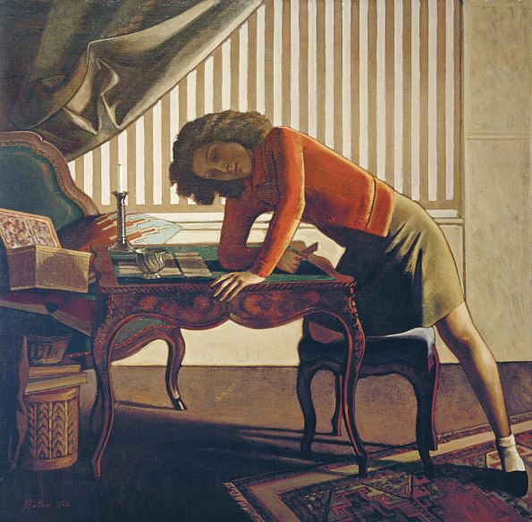 Balthus la patience solitaire 1943 the art institute for Balthus la chambre