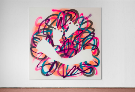 Eddie Peake, Holding her Hand in the Air in the Shape of a Gun 8, 2012