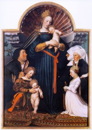 Hans Holbein il Giovane, Madonna of Major Jakob Meyer zum Hasen, 1525