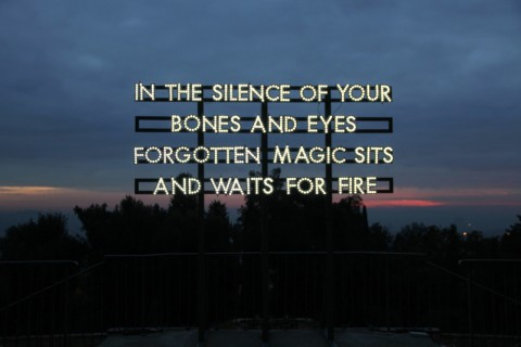 In the silence of your bones di Robert Montgomery, VINCITORE PREMIO ICONA - Courtesy Analix Forever, Ginevra