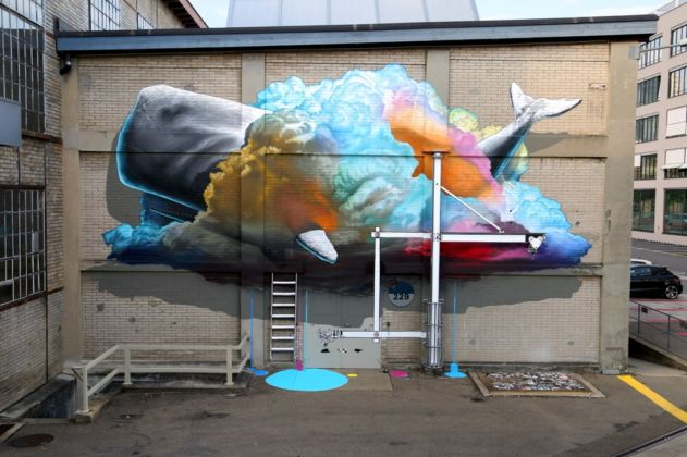 NEVERCREW, Interpretive machine n. 1 - Urban Art Festival, Winterthur, settembre 2014