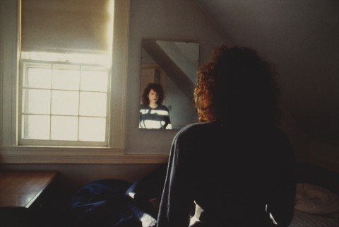 Nan Goldin, Self-Portrait in the Mirror, The Lodge, Belmont, MA, 1988 - Fondazione Museion. Collezione Enea Righi - photo © Antonio Maniscalco
