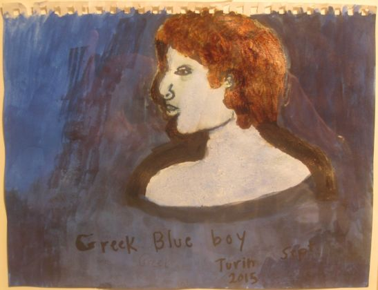 Nan Goldin, The Greek blue Boy with Shadow, Berlin, February 2015