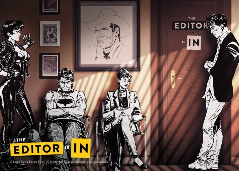 serie tv The Editor is In, presentata da Sky Arte HD, Tiwi e Sergio Bonelli Editore