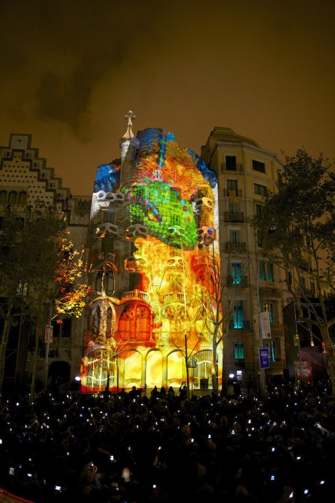 Video mapping su Casa Batlló, Barcellona
