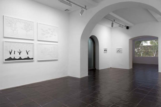 Amparo Sard – Cutting the Space – veduta della mostra presso la Galleria Paola Verrengia, Salerno 2015 – photo Ciro Fundarò