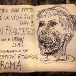 Collettivo FX, Dietro ogi matto c'è un villaggio, 2015 - San Francesco, lo sketch preparatorio