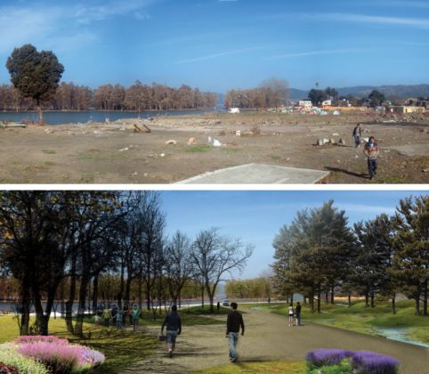 Elemental, Mitigation Park Project - Constitución River's edge right after 2010 Earthquake & Tsunami