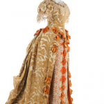 A rare Charles Frederick Worth historically-inspired voided velvet ball gown, 1885-8
