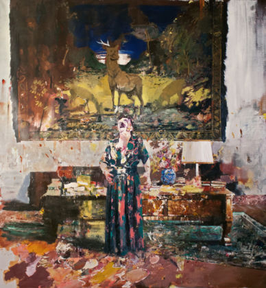 Adrian Ghenie, Pie Fight Interior 8, 2012