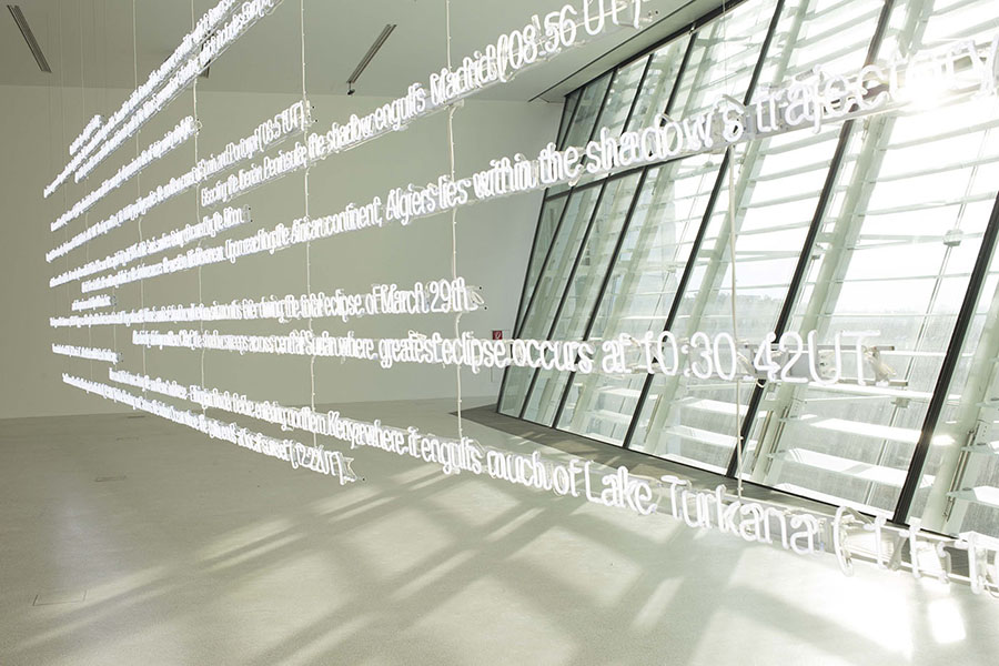 Cerith Wyn Evans, E=C=L=I=P=S=E, 2015 - courtesy of the artist - photo Eleonora Milner