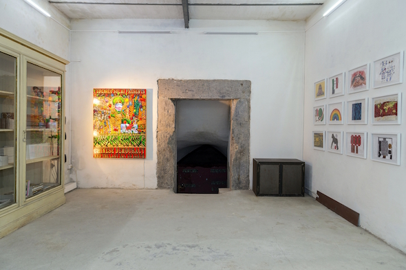 Federico Solmi – The Great Dictator – veduta della mostra presso Dino Morra Arte Contemporanea, Napoli 2015 - photo Danilo Donzelli