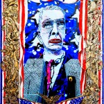 Federico Solmi, The Last President of The United States of American - from American Circus video paintings, 2014
