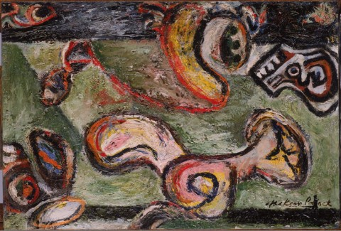Jackson Pollock, Composizione, 1938-41 - olio su tela - Phillips Collection, Washington