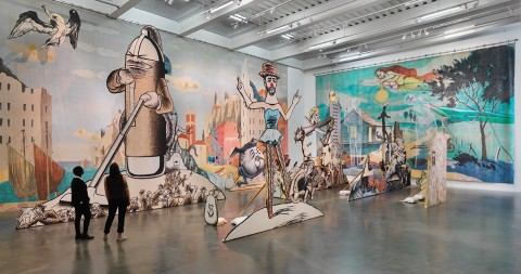 Jim Shaw – The End is Here - New Museum, New York 2015 - photo Maris Hutchinson