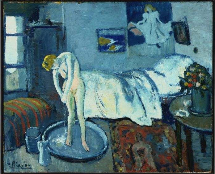 Pablo Picasso, La Camera blu, 1901 - olio su tela - Phillips Collection, Washington