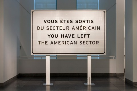 Ron Terada, You Have Left The American Sector, 2005