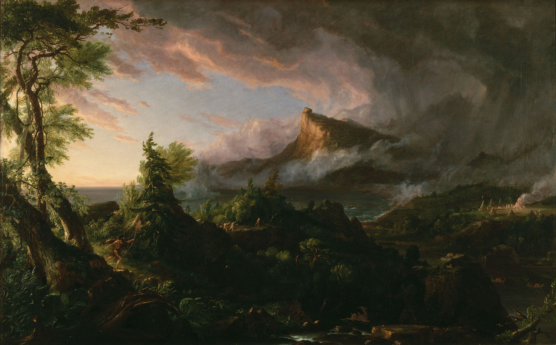 Thomas Cole, The Course of Empire. The Savage State, 1836