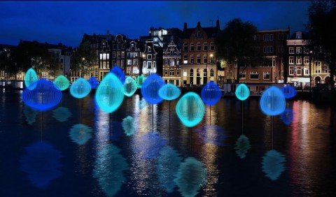 Michiel Martens & Jetske Visser, Holon Light, Amsterdam Light Festival