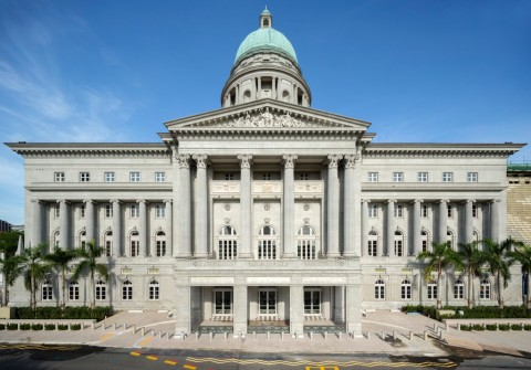 National Gallery, Singapore - Facade of former Supreme Court - photo Darren Soh